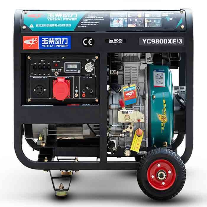 Small air cooled diesel generator